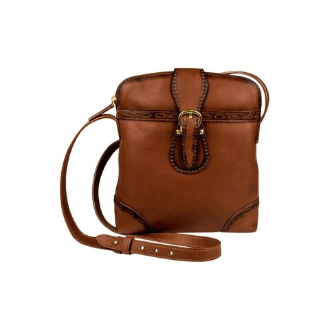 Scully Western Handbag Womens Handles Pebbled Leather Zip Brown - One size