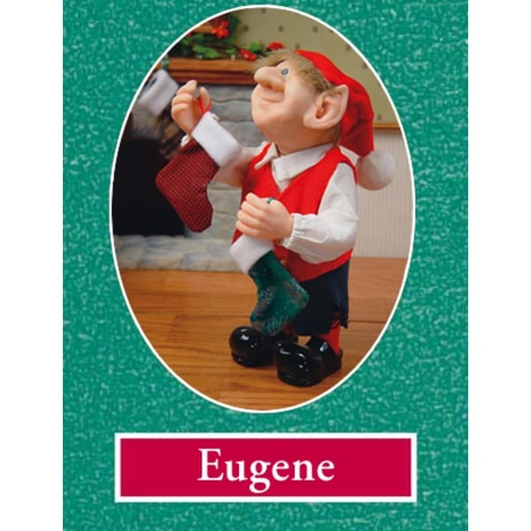 """10"""" Zims The Elves Themselves Eugene Collectible Christmas Elf Figure"""