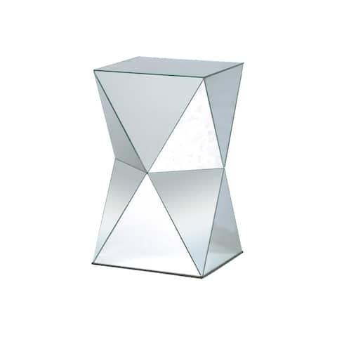 StyleCraft Crafted Mirror Pedestal Table