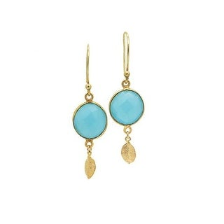 Aqua Chalcedony Dangle Earrings