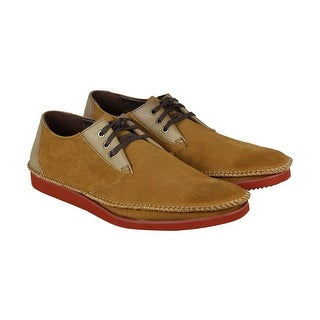 Deer Stags Delaware Mens Brown Leather Casual Dress Lace Up Oxfords Shoes