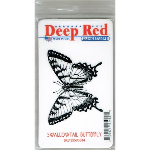 Deep Red Stamps Swallowtail Butterfly Rubber Cling Stamp - 2.8 x 2