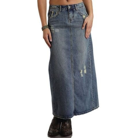 Stetson Western Skirt Womens Denim Stretch Med