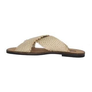 Dolce & Gabbana Beige Jute Woven Slides Sandals - eu44-us11