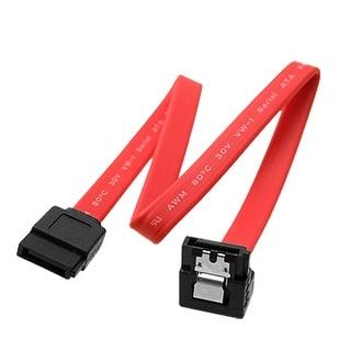 Unique Bargains Female To Female Serial ATA SATA 7 Pin Extension Line Cable Red F/ F