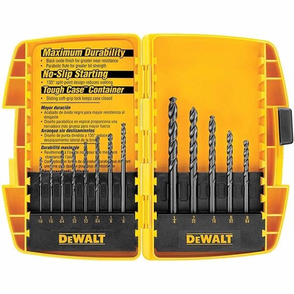Dewalt 13 Piece Black Oxide Split Point Twist Drill Bit Assortment