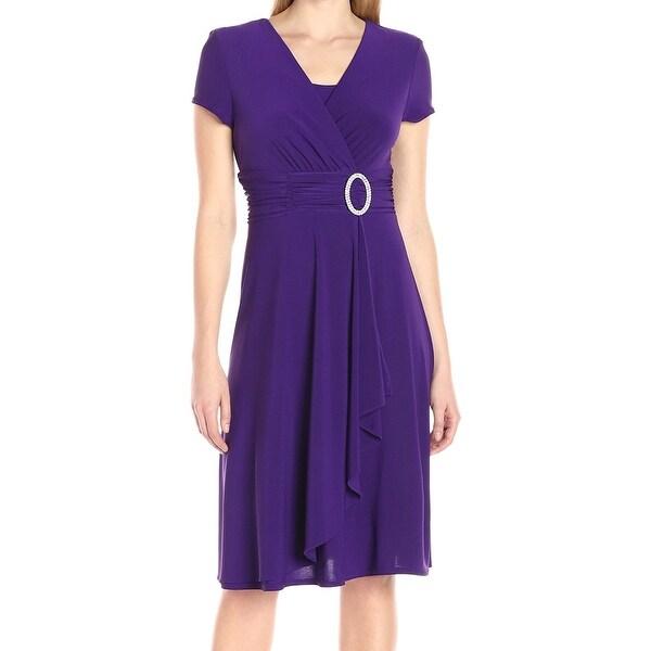 R&M Richards Women's Embellish Hardware Sheath Dress