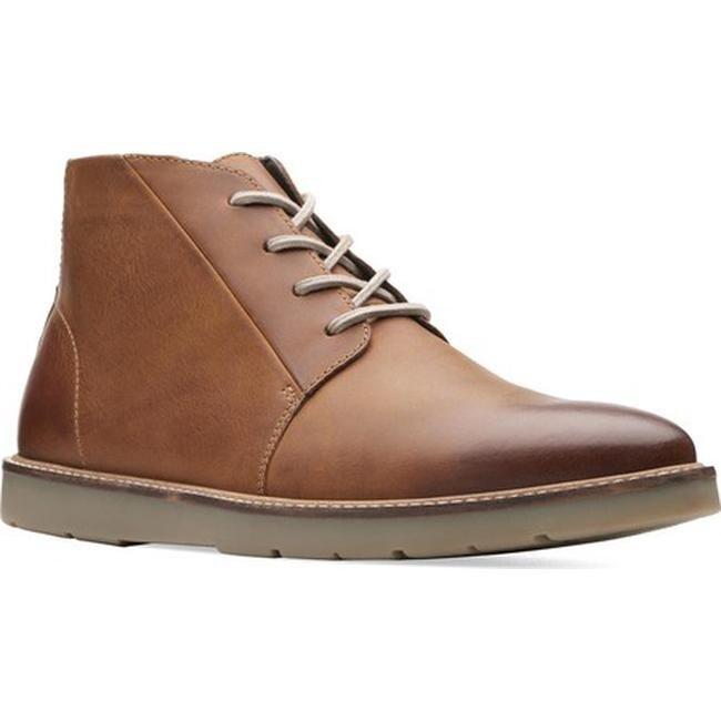 Desde río junto a  Clarks Men's Grandin Mid Ankle Boot Dark Tan Leather - Overstock - 25594298