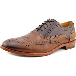 Warfield & Grand Hastings Men Wingtip Toe Leather Brown Oxford