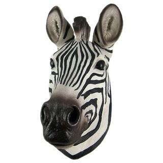 African Zebra Head Mount Wall Statue Mini-Bust 9.25 In.