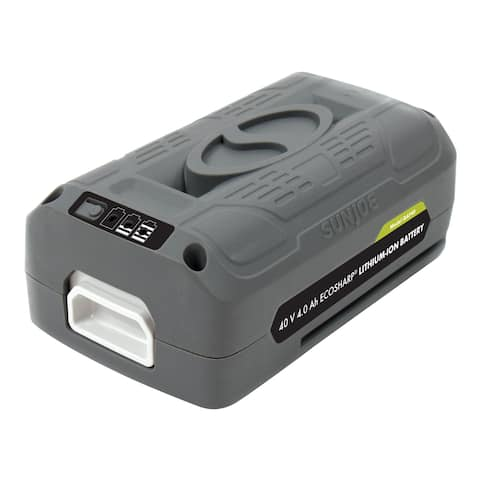 Snow Joe + Sun Joe iBAT40 iON EcoSharp 40 V 4.0 Ah Lithium-Ion Battery