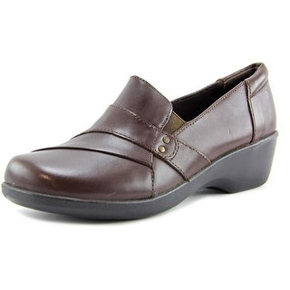 Clarks Esha Marigold Women Round Toe Leather Brown Loafer
