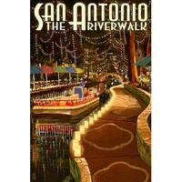 San Antonio, TX - The Riverwalk - LP Artwork (100% Cotton Towel Absorbent)