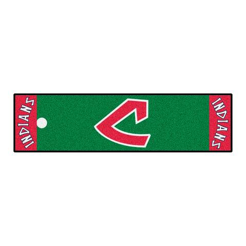 MLB - Cleveland Indians Retro Collection Putting Green Mat - 1.5ft. x 6ft. - (1973) - 1.5ft. X 6ft.
