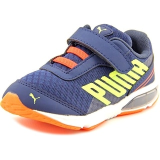 Puma Power Tech Defier Jr Youth Round Toe Synthetic Blue Sneakers