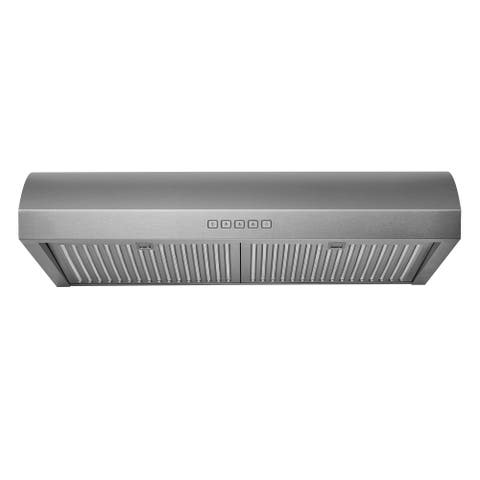 Hauslane Chef Series 30-inch B018 Convertible Under Cabinet Range Hood, 3-Way Venting, 250 CFM, Perfect for Ductless Kitchen