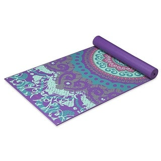 GAIAM Premium Moroccan Garden Printed Yoga Mats (4MM) Purple - purpple