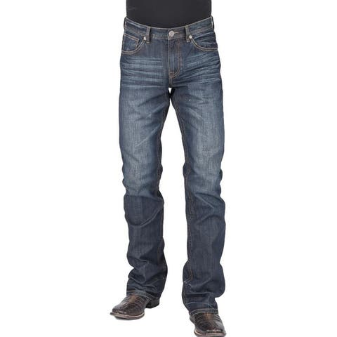 Stetson Western Jeans Men Relaxed Fit Bootcut Blue