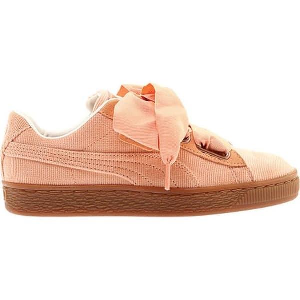 watch c7ff9 b0371 Shop PUMA Women's Basket Heart Corduroy Sneaker Dusty Coral ...