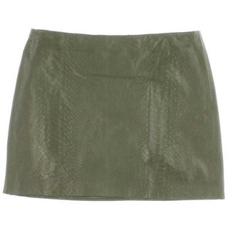 Alice + Olivia Womens Lamb Leather Mini A-Line Skirt