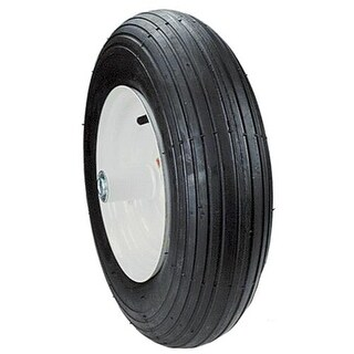 Max Power 335250 2-Ply Rib Tread Wheelbarrow Wheel, Outer Black tire only