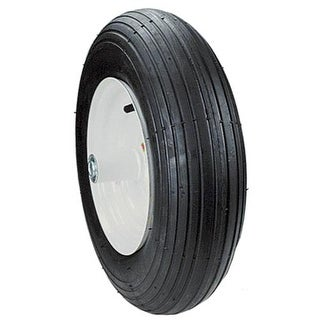 "Max Power 335260 Rib Tread Wheelbarrow Wheel, 4.8"" X 4"" X 8"""