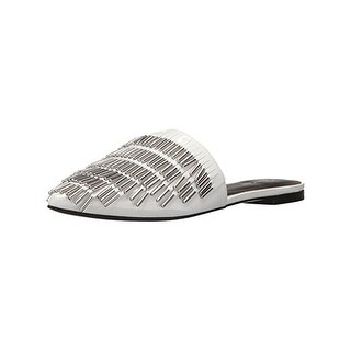 Calvin Klein Womens Addie Mules Patent Leather Beaded - 6.5 medium (b,m)