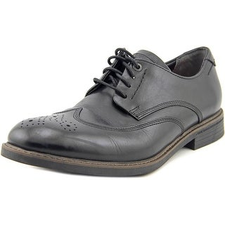 Rockport Wing Tip Men Round Toe Leather Black Oxford