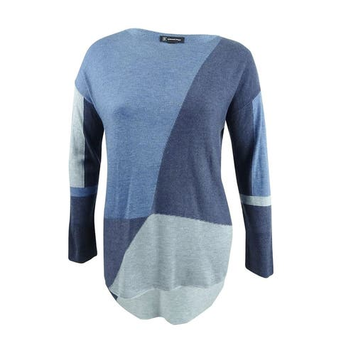 INC International Concepts Women's Colorblocked Sweater (XL, Inkberry) - Inkberry - XL