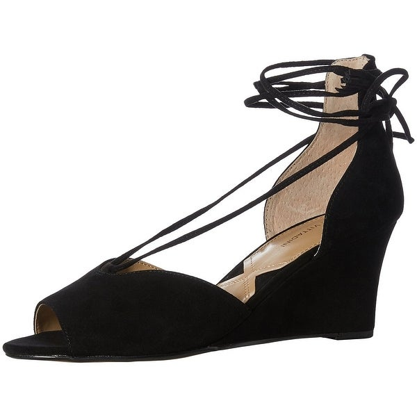 Adrienne Vittadini Womens Marcey Suede Peep Toe Casual Platform Sandals