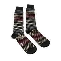 Missoni GM00CMU5237 0004 Black/Tan Knee Length Socks