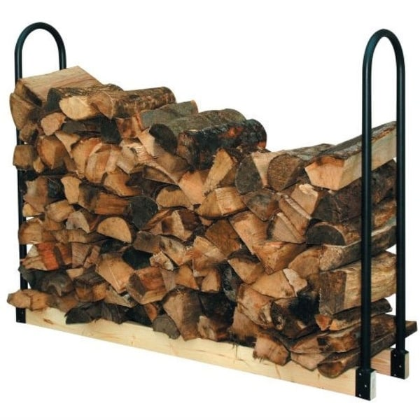 Adjustable Length Firewood Log Rack for Indoor or Outdoor Use