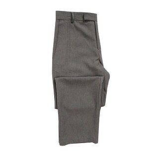 Kenneth Cole Reaction Men's Straight-Fit Vertical Texture Pants (30x30, Grey) - Grey - 30X30