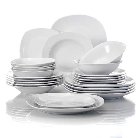 MALACASA Elisa 24-Piece Dinnerware Set (Service for 6)