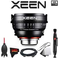 Rokinon Xeen 14mm T3.1 Lens for Canon EF Mount with Professional Accessory Kit - black