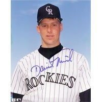 Signed Nied David Colorado Rockies 8x10 Photo autographed