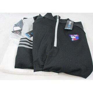 Adidas 3 Pack 1/4 Zip Pullover Medium Black Gray & White Logo Overuns Limited Ed