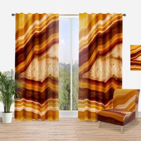 Designart 'Orange Geode Chrystal' Traditional Curtain Panel