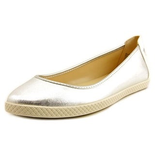 Nine West Royalli Women Round Toe Synthetic Silver Flats
