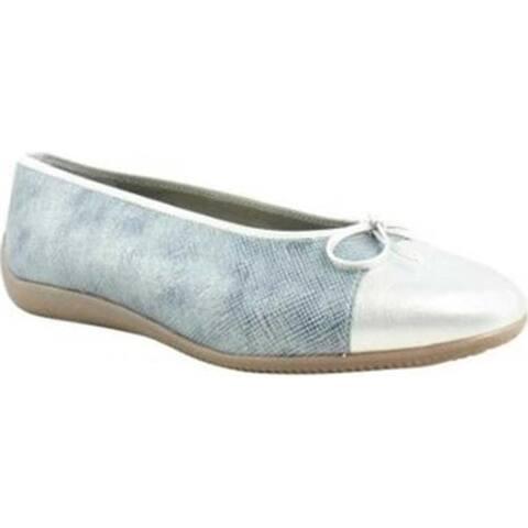 ara Women's Bella 43716 Blue Calf/Silver Metallic