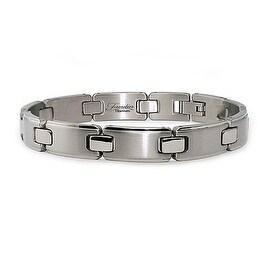 Titanium Men's Link Bracelet (10mm Wide) 8.5 Inches
