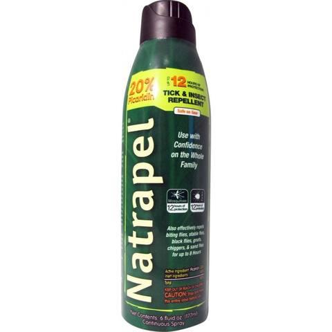 Natrapel 0006-6878 Deet Free Tick & Insect Repellent Continuous Spray, 6 Oz