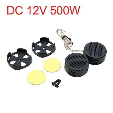 DC 12V 500W Super Power Black Universal Car Audio Tweeter Loud Speaker Set