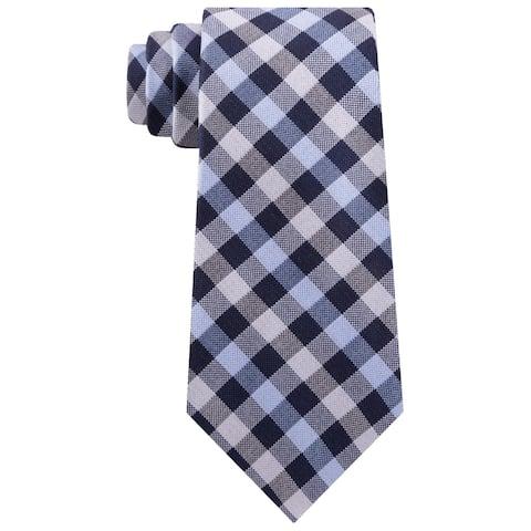 Michael Kors Mens Neck Tie Silk Professional - Navy/Silver - O/S