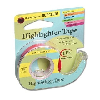 Lee Products LEE13978BN Removable Highlighter Tape - 6 Tape Rolls