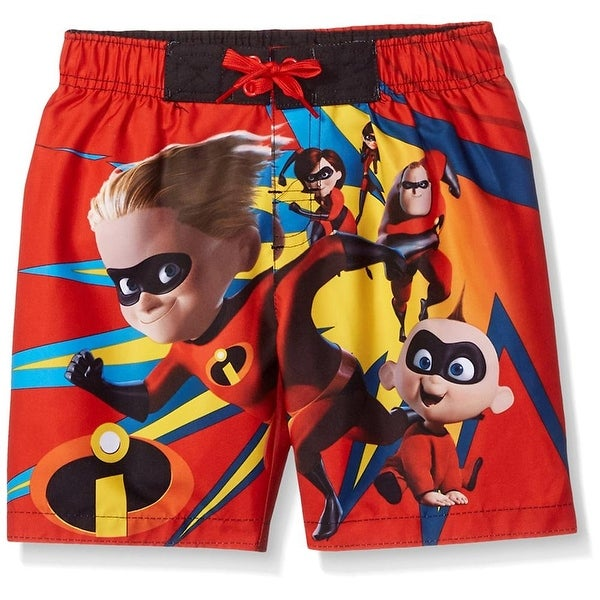 6ae88070d0 Shop Disney Boys 4-7 Incredibles Swim Trunk - Red - Free Shipping On Orders  Over $45 - Overstock - 22383517