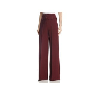 Theory Womens Camogie High-Waist Pants Wide-Leg Belted
