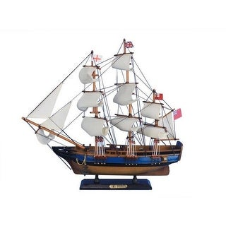 Handcrafted Decor Wooden HMS Bounty Tall Model Ship, 20 in.