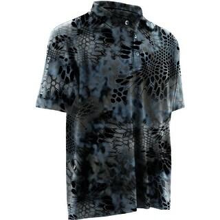 Huk Men's Kryptek Icon Neptune Large Polo Short Sleeve Shirt