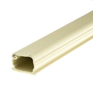 Offex 1.25 inch Surface Mount Cable Raceway, Ivory, Straight 6 foot Section